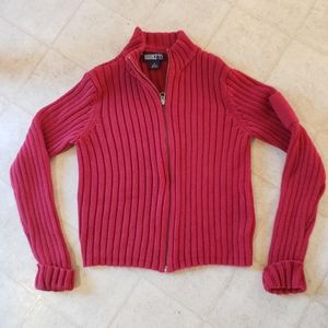 Lands end zip up sweater size M kids